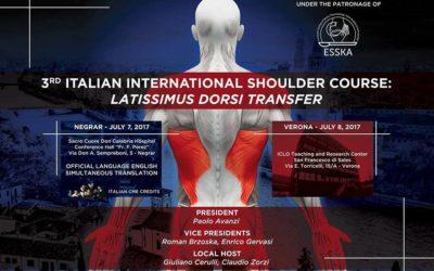 Επίσκεψη & Ομιλία στο 3ο Italian Ιnternational Shoulder Course