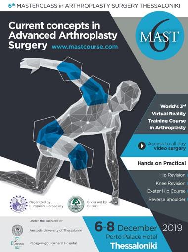 6th MASTERCLASS in ARTHROPLASTY