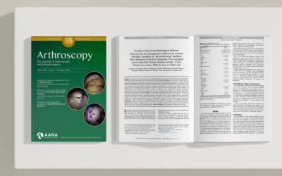 Δημοσίευση 3ετούς έρευνας στο διεθνές έγκριτο επιστημονικό περιοδικό Arthroscopy Journal